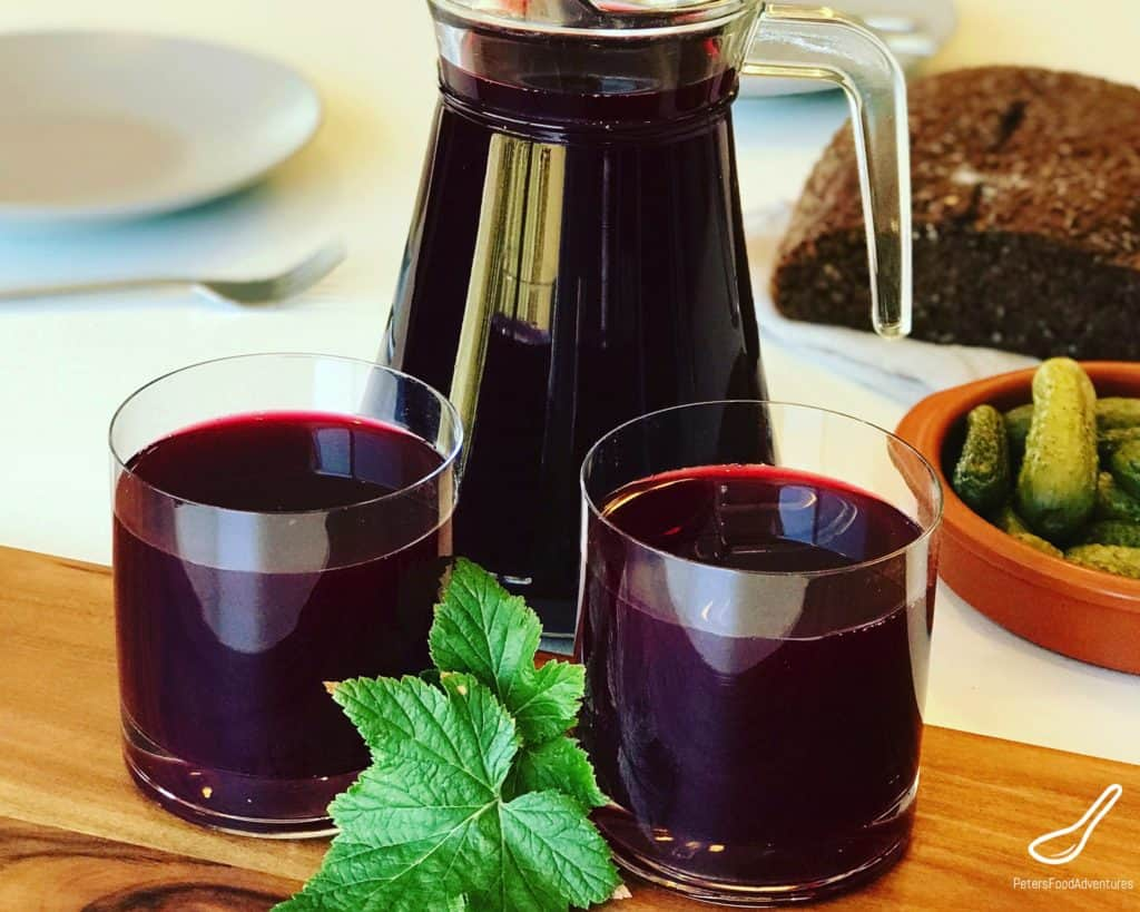 BlackCurrant Juice in glass pitcher