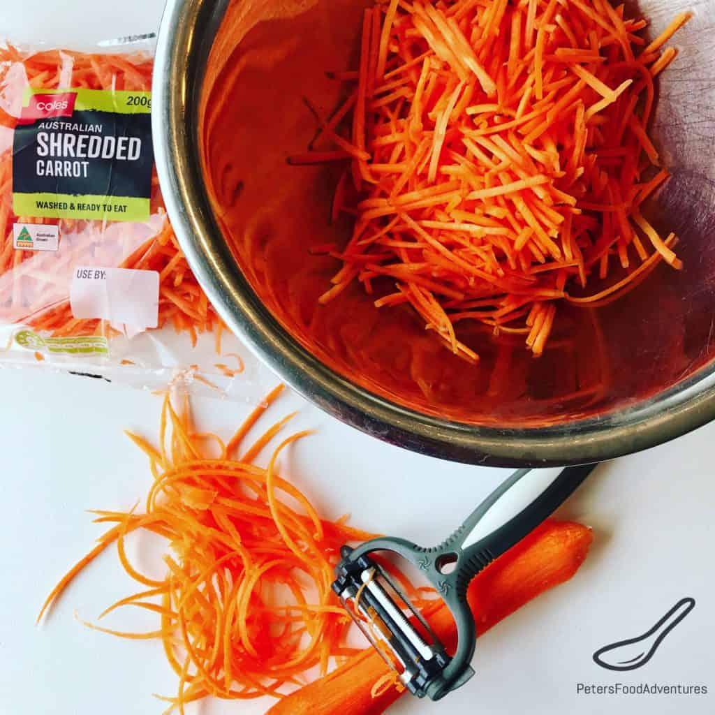 Preparing Korean Carrot Salad recipe