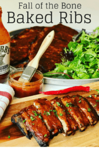 Fall off the Bone Ribs recipe, Ribs in oven that's easy to make with a dry rub, so tender, basted with a perfect blend of Honey Sriracha Bbq sauce. Finger licking good!