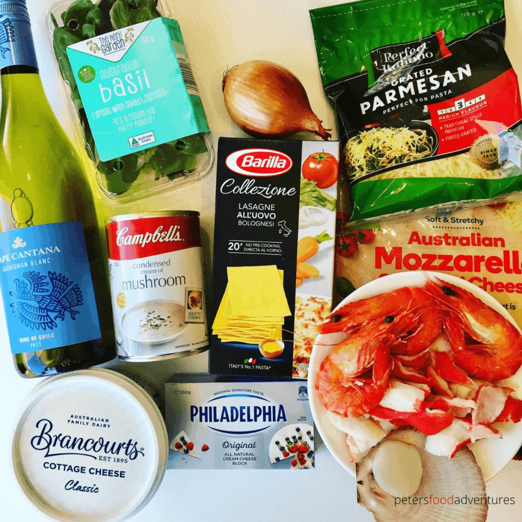 seafood lasagna ingredients