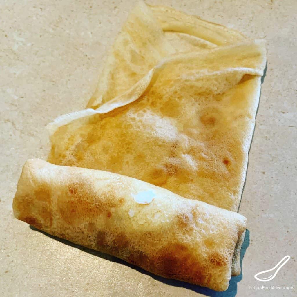Folding Cheese Blintzes