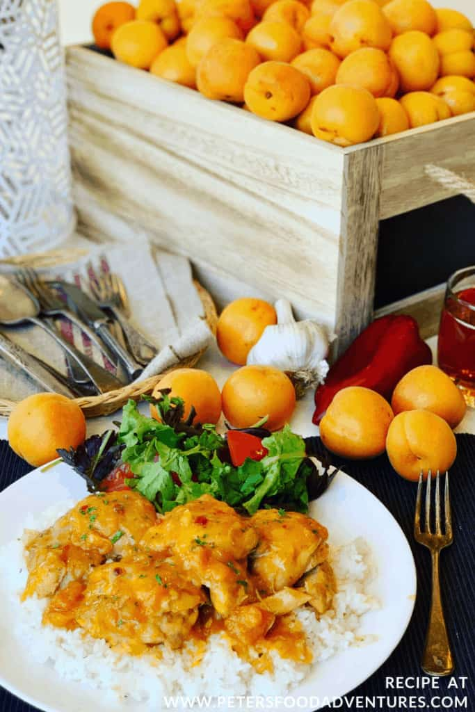 Apricot Chicken with Fresh Apricots