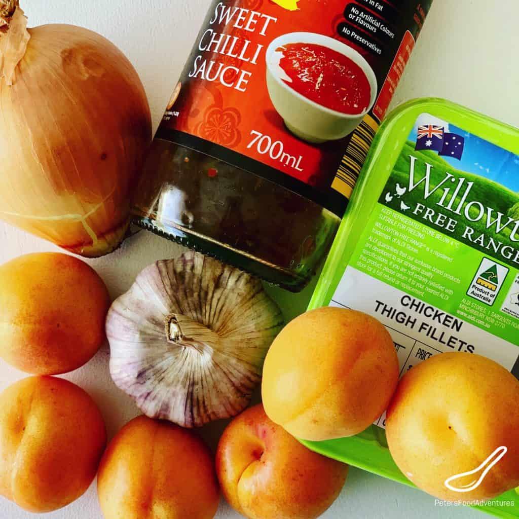 Fresh Apricot Chicken ingredients