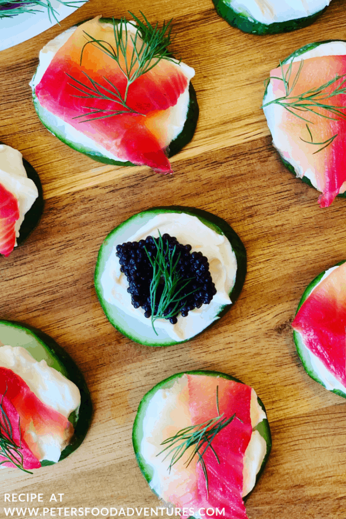 Salmon Caviar Appetizers
