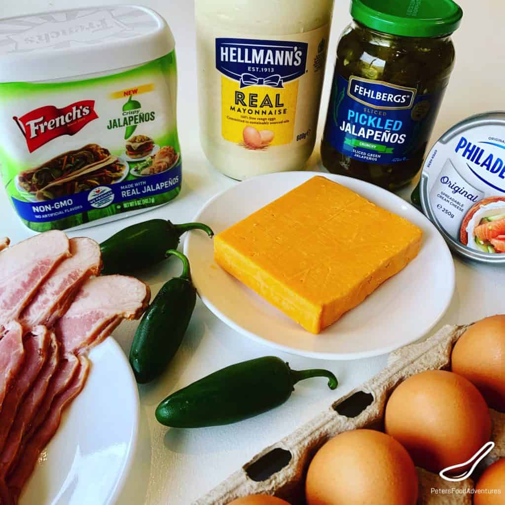 Jalapeno Stuffed Eggs ingredients