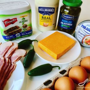 Ingredients needed to make Jalapeno Deviled Eggs
