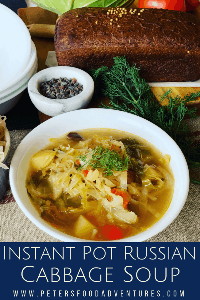 Russian Cabbage Soup made in an Instant Pot