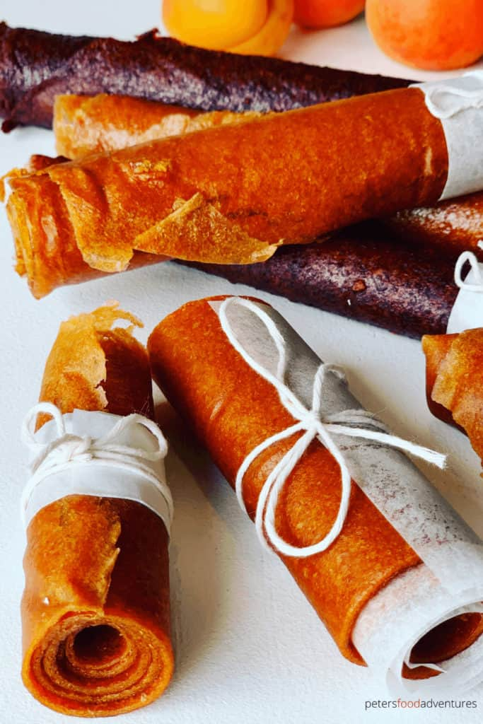 Homemade Fruit Leather recipe made from Apricots or Plums. Naturally sun dried without any nasty ingredients. A healthy and tasty snack for your family.In Russian we call this Pastila (Пастила).