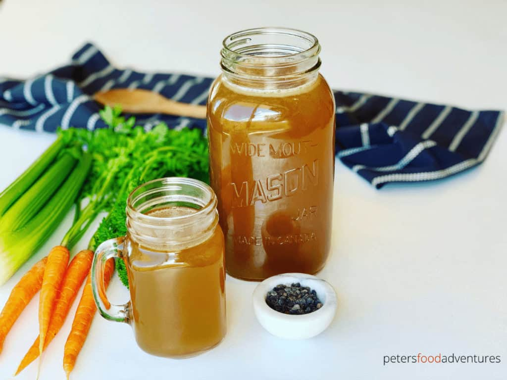Instant Pot Bone Broth is full of nutrients and vitamins, and doesn't take long to make. Boost your health and wellness with this traditional food, updated for modern times. Keto and Paleo, homemade Bone Broth so good, you will never buy stock again.