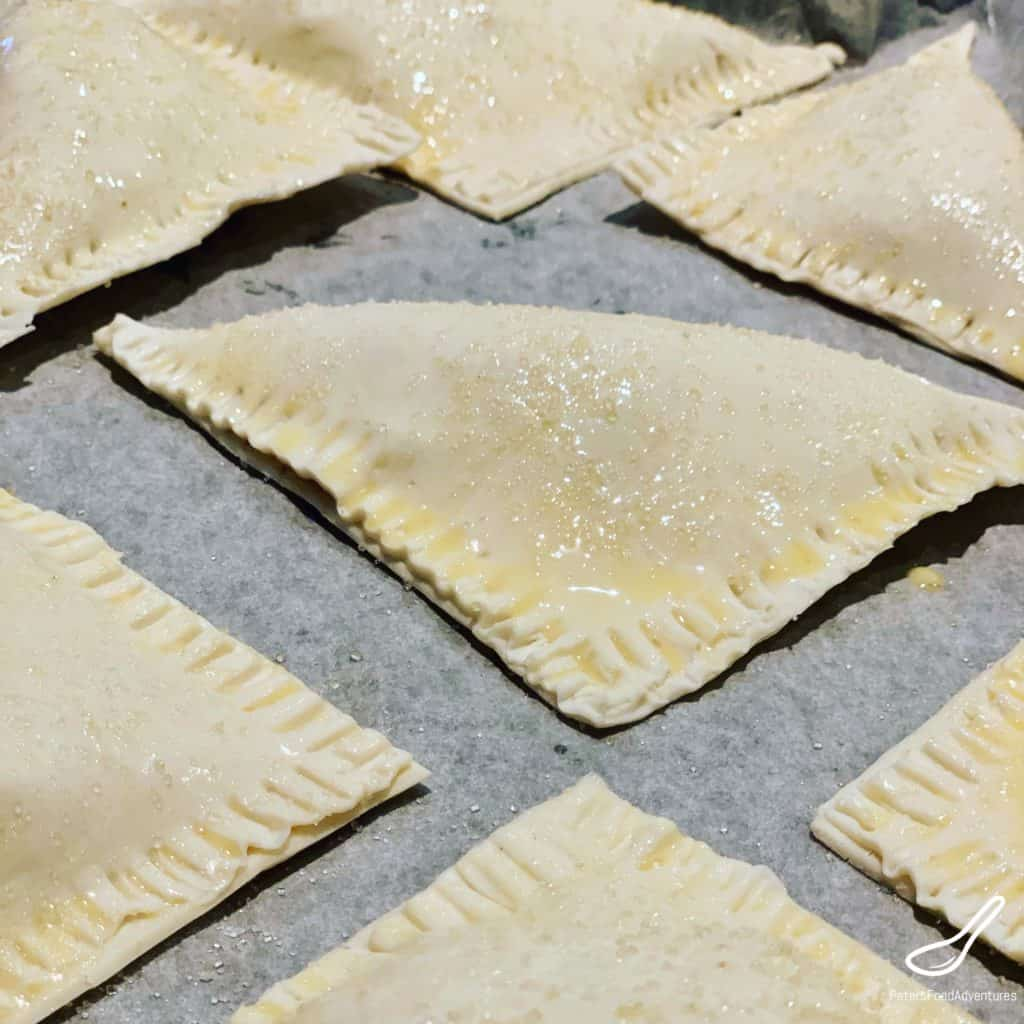 Making Apple turnover recipe