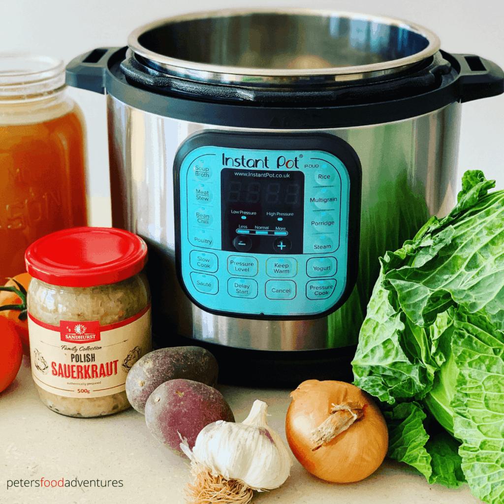 Instant Pot Cabbage Soup ingredients