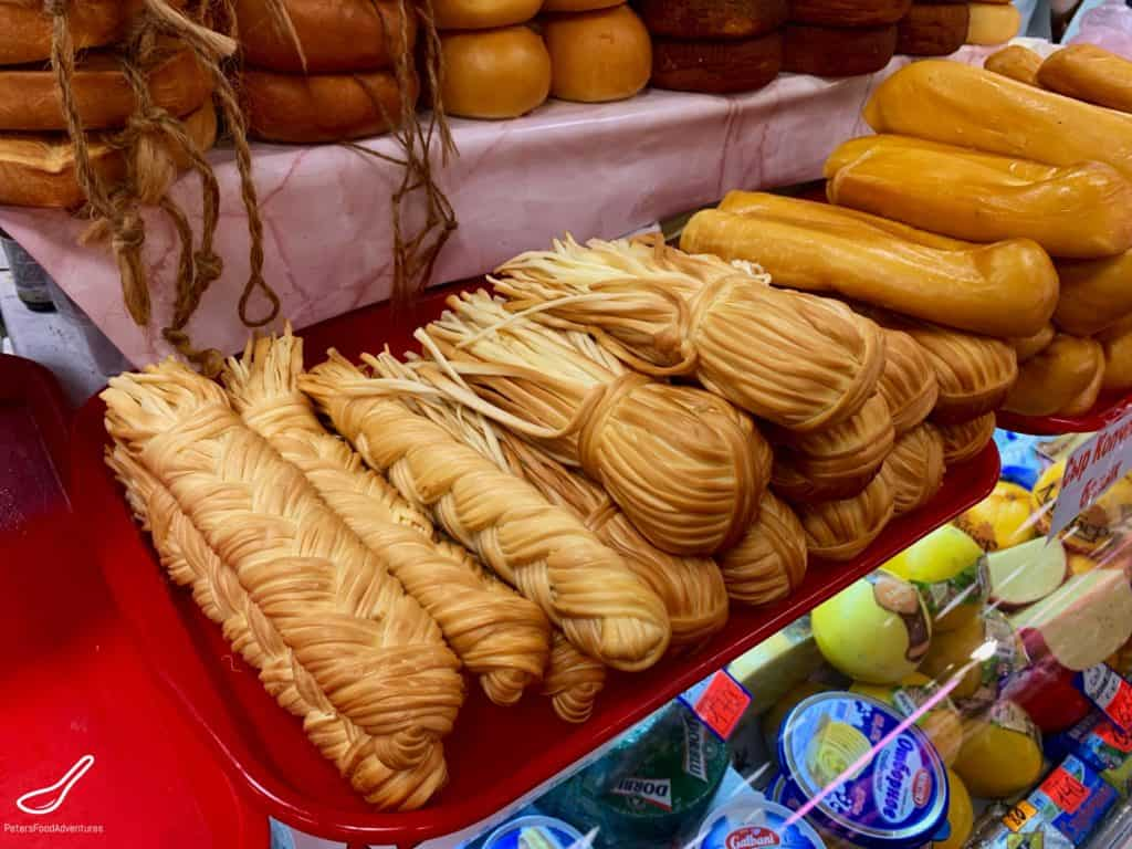Chechil - Smoked Cheese in Sochi Market