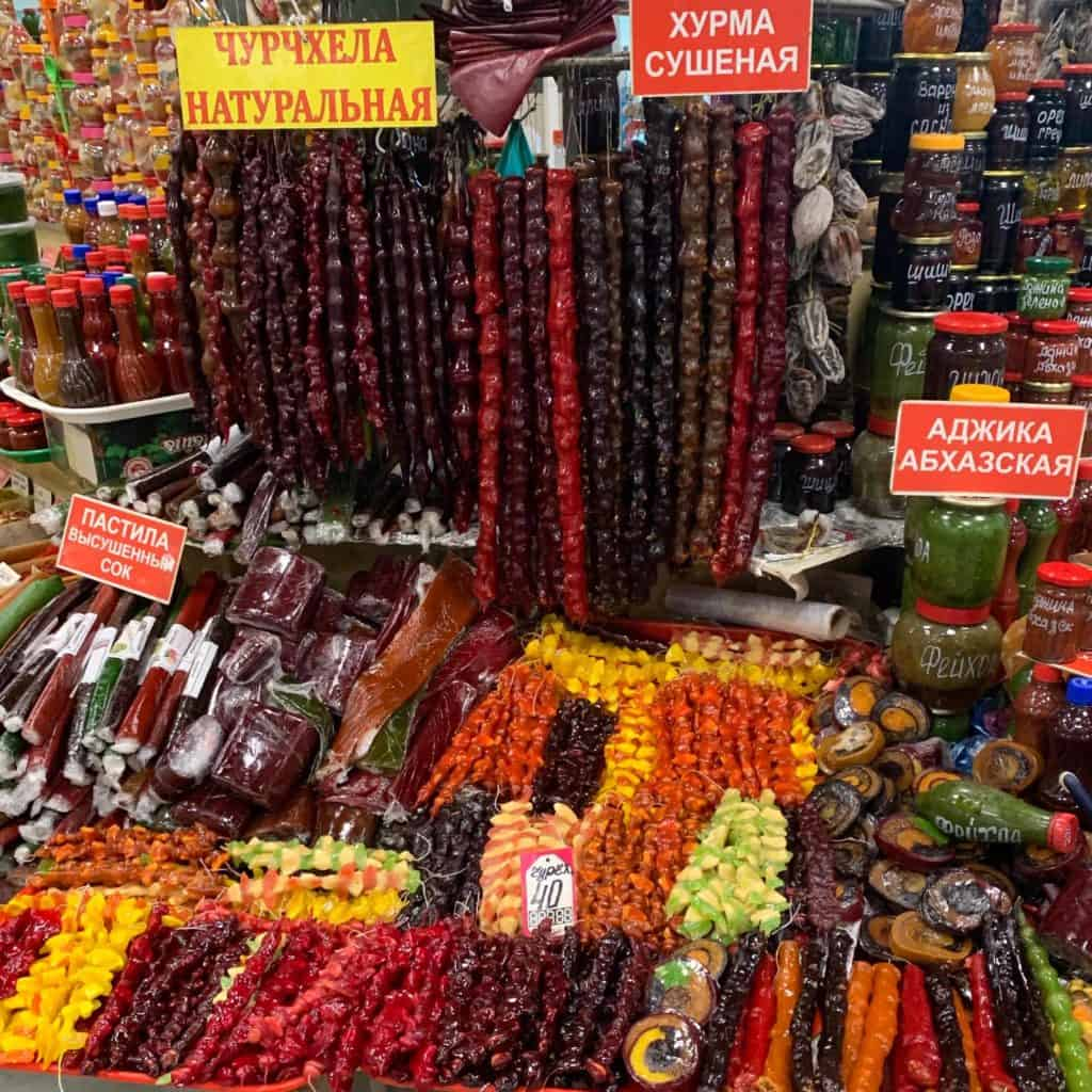 Sochi Central Market Churchkhela