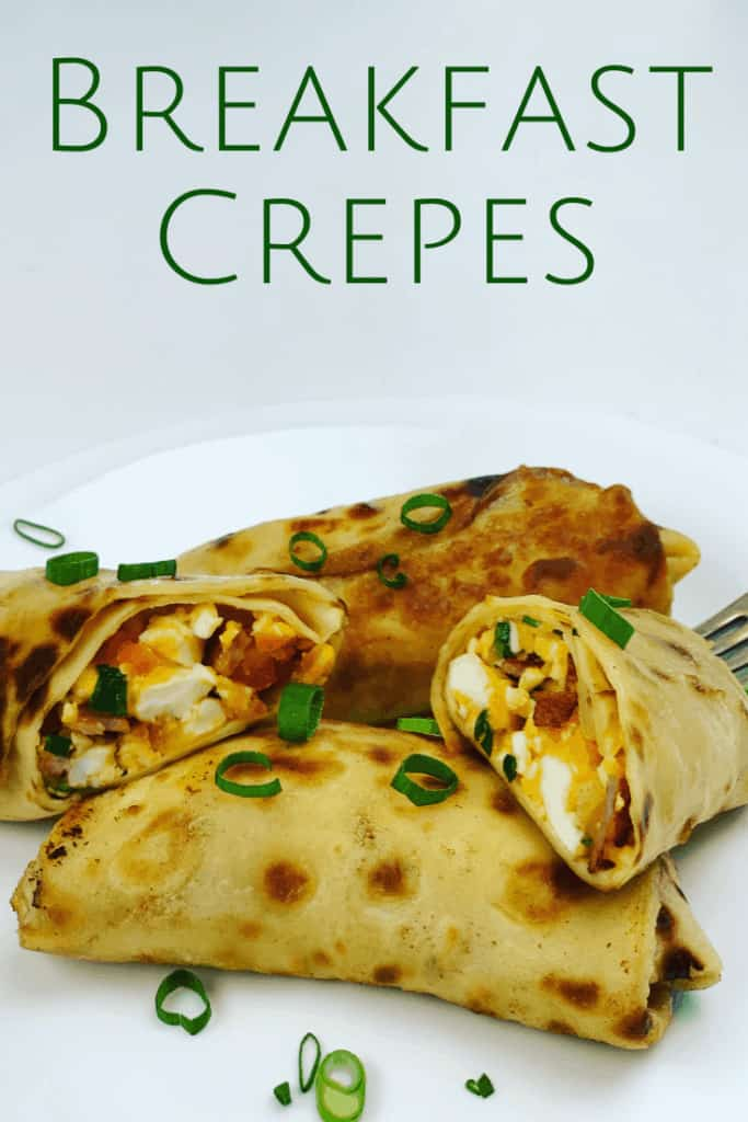 Bacon and Egg Crepes for Breakfast