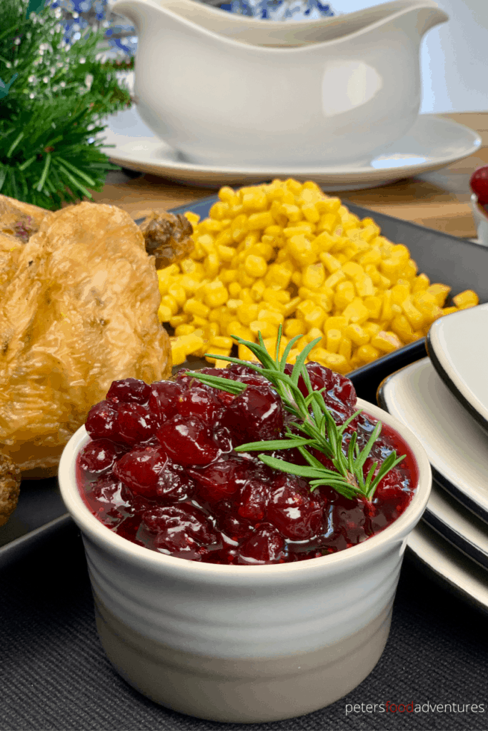 Homemade Cranberry Sauce recipe that's incredibly easy to make with only 3 ingredients. My secret is the Ginger Ale. This recipe can also be used to make Lingonberry Sauce, perfect for Thanksgiving or Christmas.