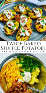 Pinterest Pin for Twice Baked Potatoes