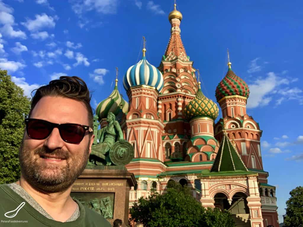 Exploring Red Square beside the Kremlin. St Basil's Cathedral, Lenin's Mausoleum, Nikolskaya St, GUM Dept Store and the Changing of the Guard in Russia.