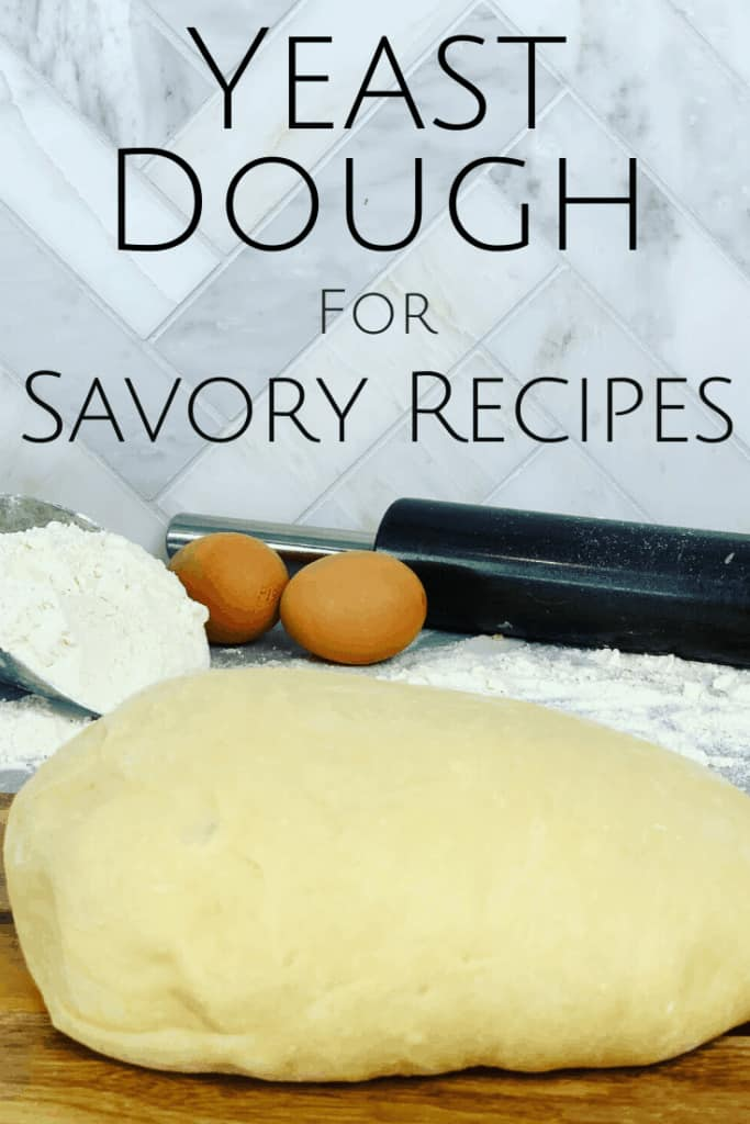 A versatile yeast dough recipe that can be used for many savory recipes. From Pizza, to cheese scrolls, to Russian Piroshki. My go to dough recipe for savory foods.