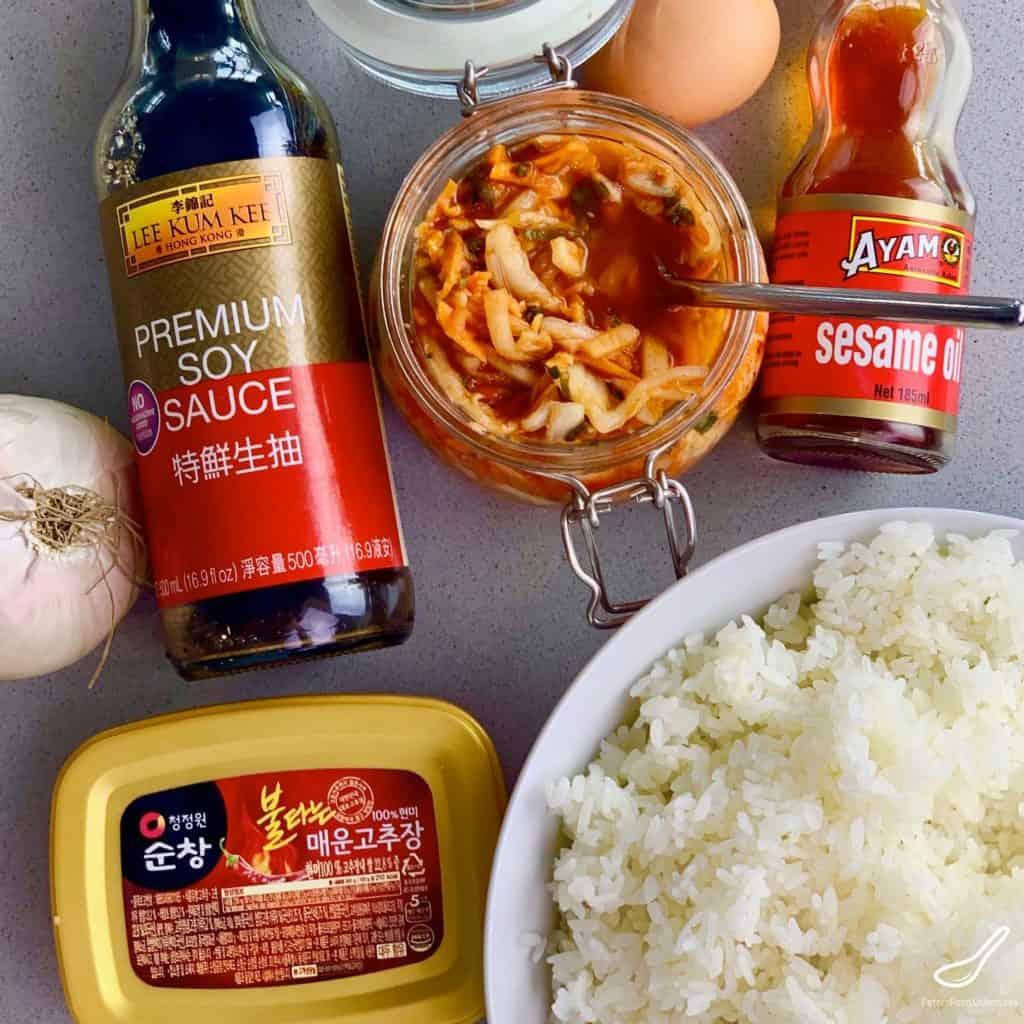 kimchi fried rice ingredients