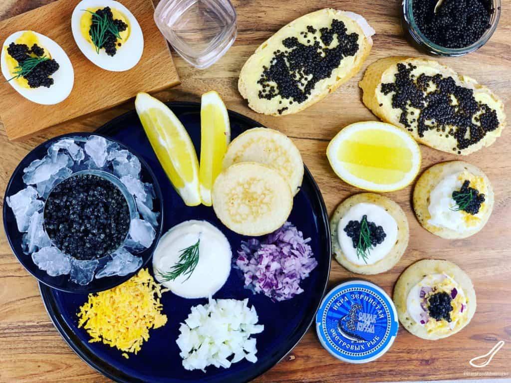 caviar platter appetizers