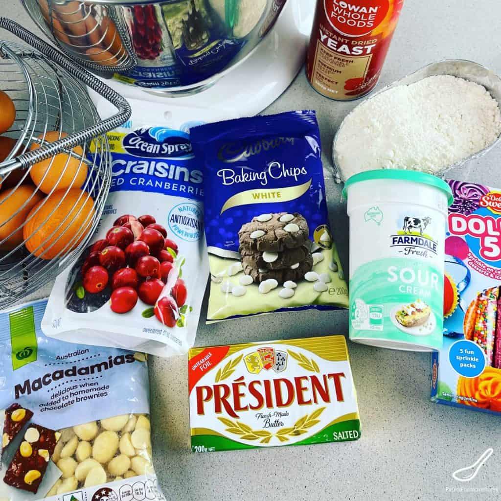 Paska bread ingredients