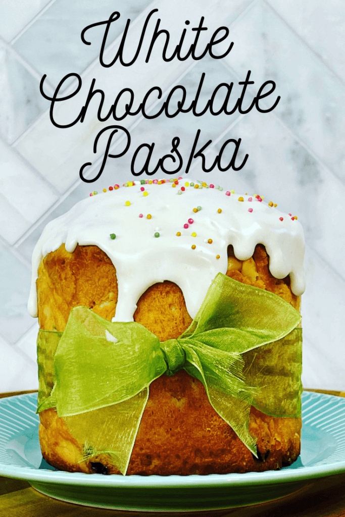 This Paska bread tastes amazing. Made with white chocolate, macadamia nuts and dried cranberries, everyone will love this Paska recipe. Also known as Kulich, it's an Eastern European dessert made for Easter.