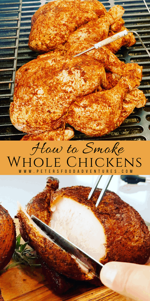 It's easier to smoke a chicken than you think! A wet or dry brine ensures the chicken is juicy and full of flavor. This recipe uses lump charcoal and fruit wood for the perfect smokey flavor. How to Smoke a Chicken
