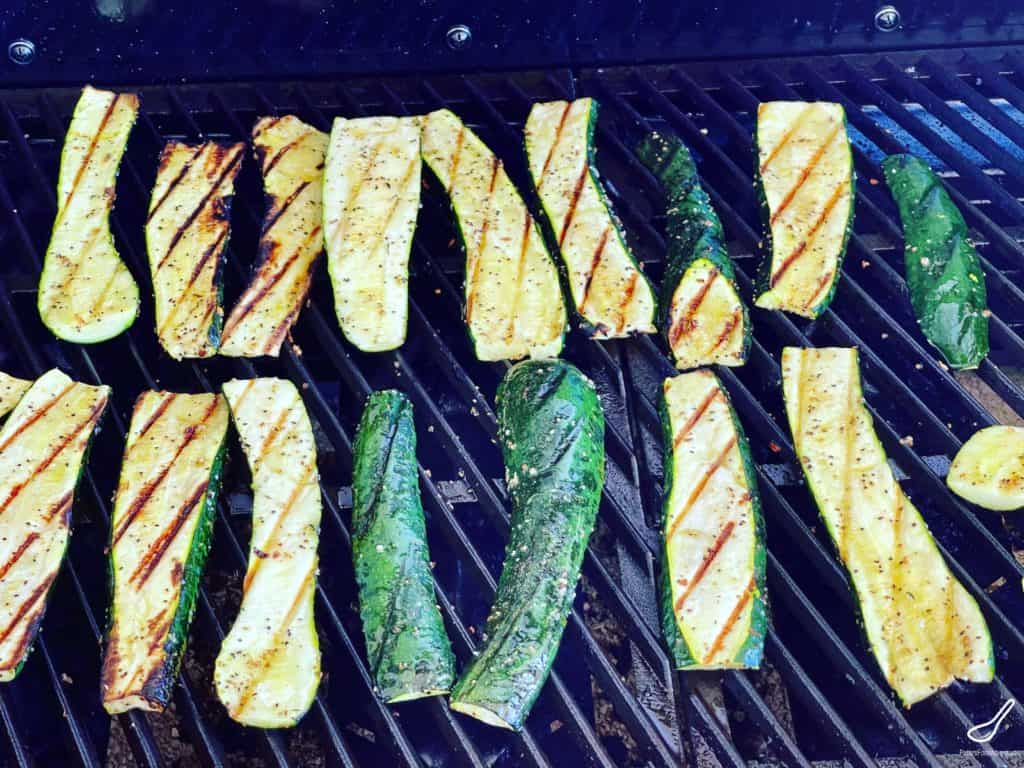 Char Grilled Zucchini on a bbq