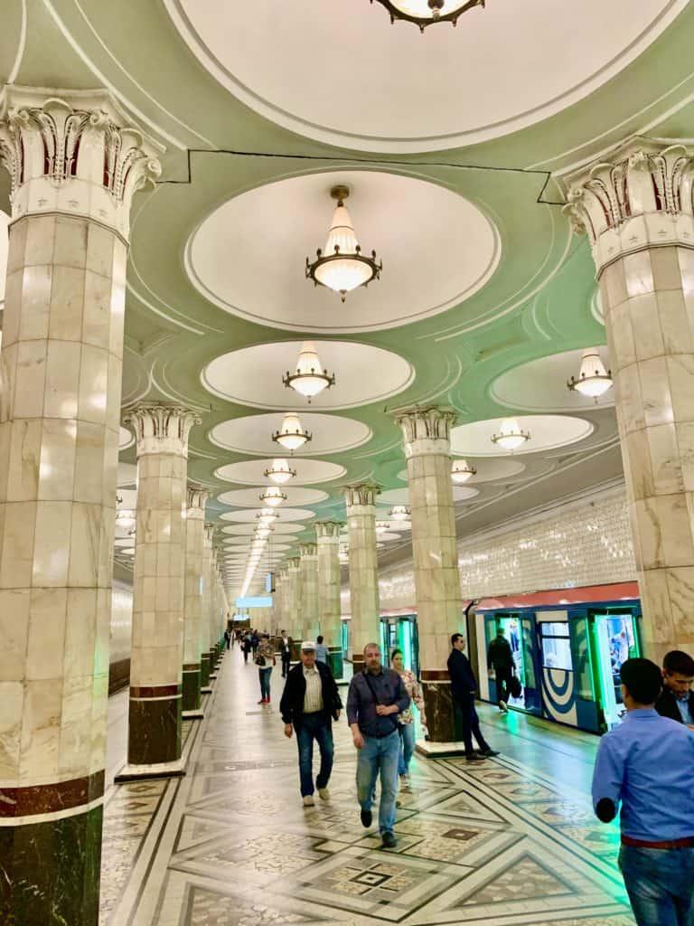 Kievskaya Filyovskaya Line Station in Moscow