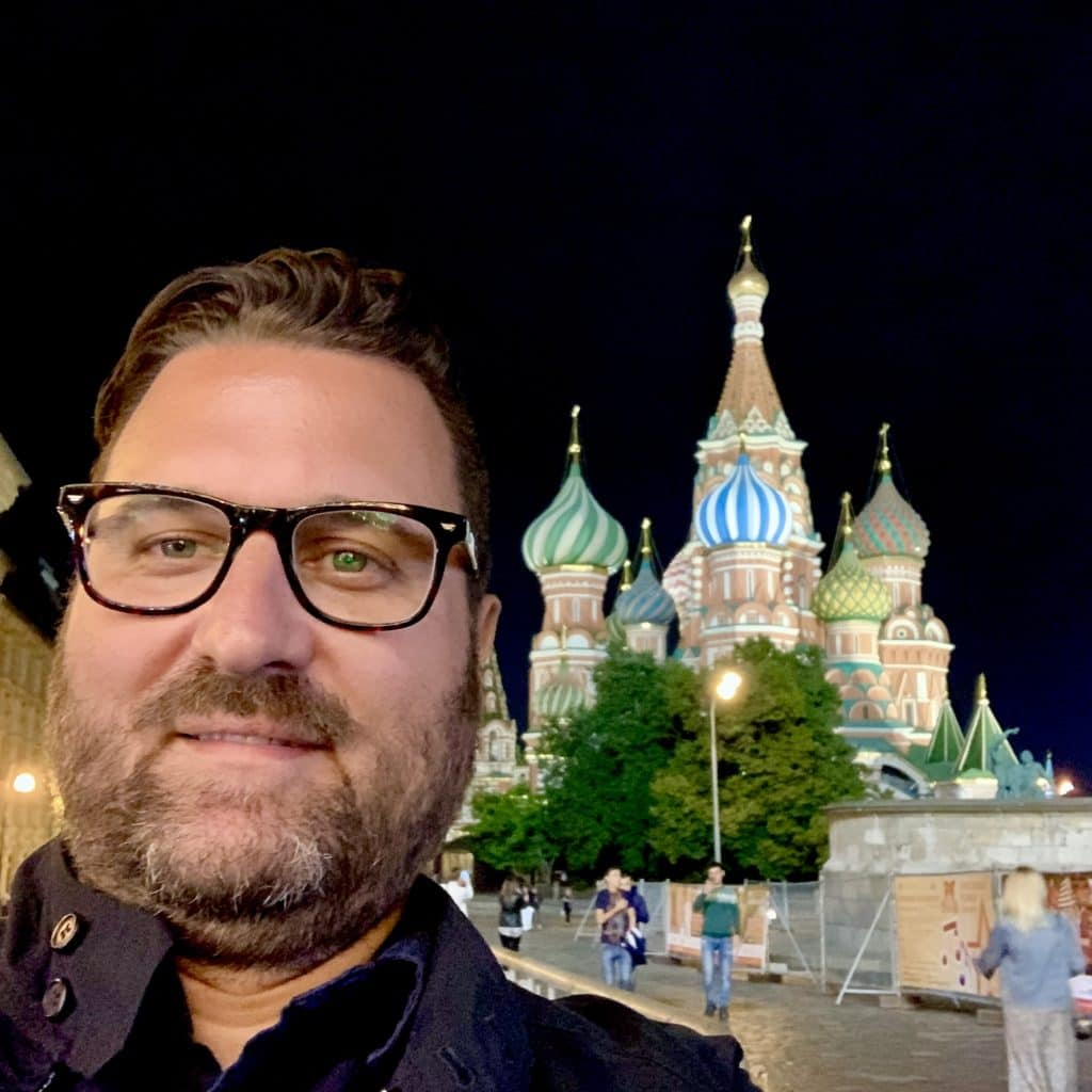 Walking in Moscow at Night in Red Square