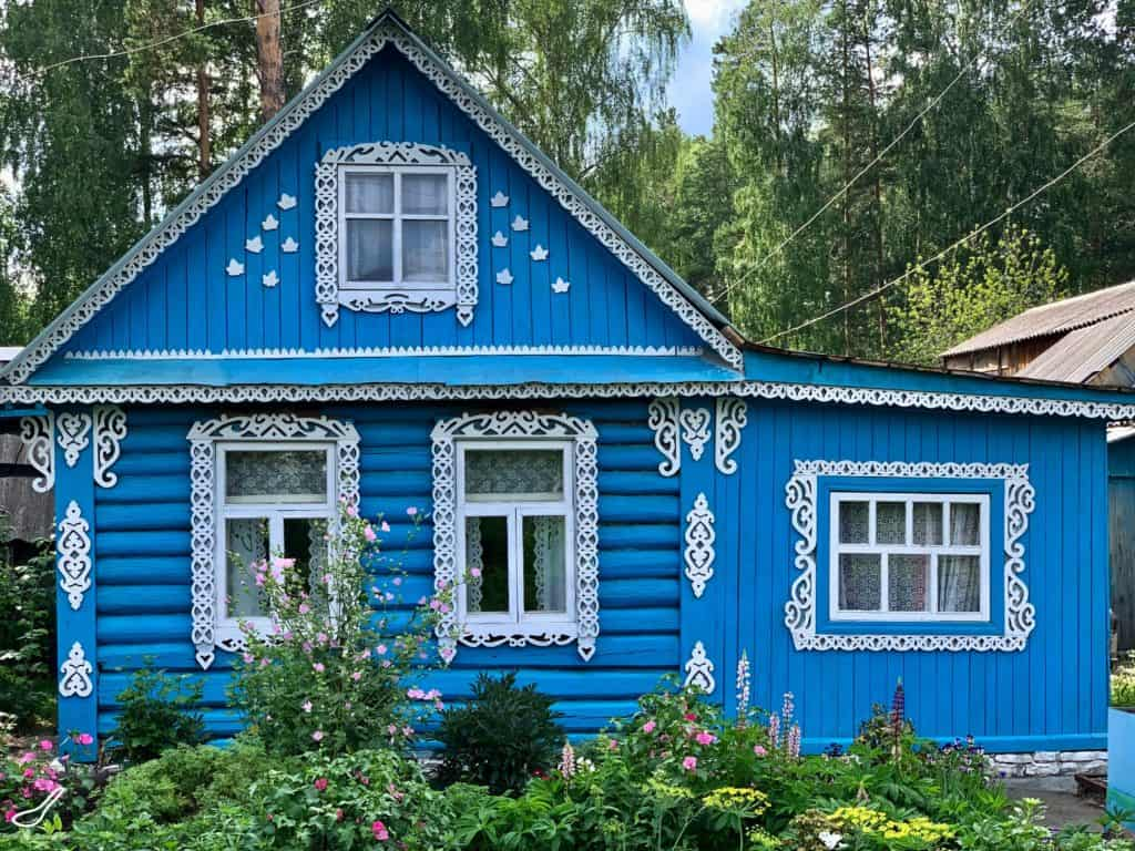 old style russian dacha house